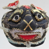 673 Big Nosed Black Silk Han Chinese Tiger Hat