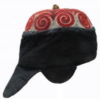 503 Red Miao Child's Hat from Jianhe, Guizhou