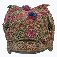 Antique Dong Ethnic Minority Girls Festival Hat LiPing County