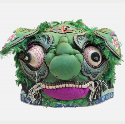 665 Big-Nosed Green Tiger Chinese Silk Hat