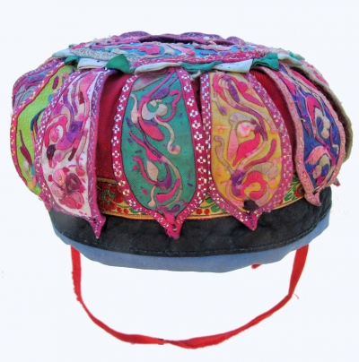 605 Silk Embroidered Flower Petal Hat