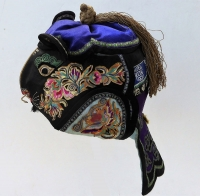 668 Majestic Black Silk Chinese Tiger Hat