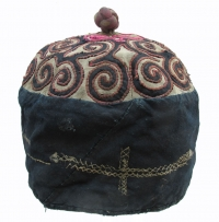 Miao Minority applique boy's cap from Jianhe County Guizhou