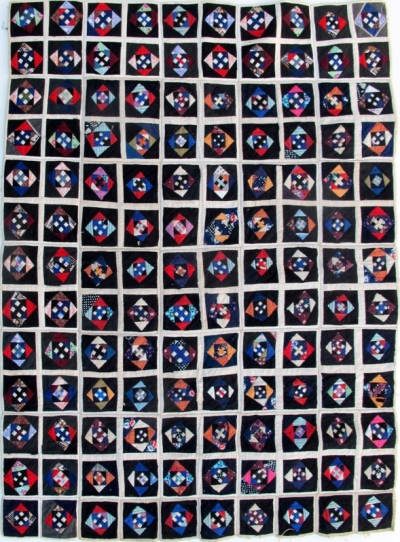 Bl -293 Vintage Zhaung Minority Applique Wedding Quilt Top