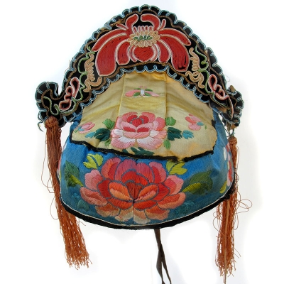 557 Lovely Silk Flower Crown Chinese Hat