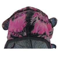 300 - Antique Wind Lions Hat Silk on Velvet