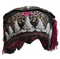Silk Embroidered Bai Minority Wind Hat