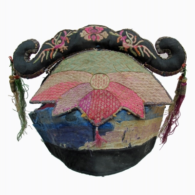 Antique Bai Minority Lotus Crown Hat Yunnan