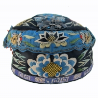 548 Chinese Child's Hat with Kingfisher Feather Pin