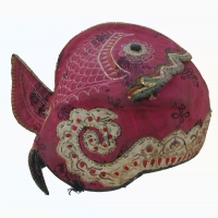 581 Yi Ethnic Minority Girls Silk Brocade Fish Hat