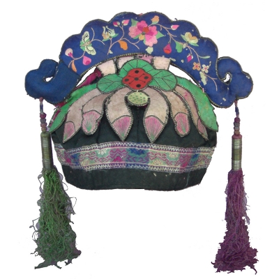 371 - Lotus Flower Bai Minority Hat