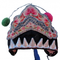Bai Minority Festival Hat with Pompoms