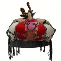 Bird in Lotus Han Chinese Summer Hat