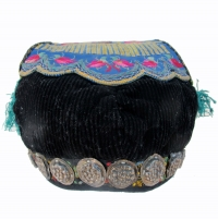 551 Miao Girl's Festival Hat with Silver