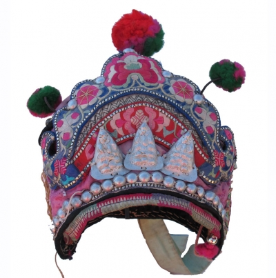Bai Minority Girls Pompom Hat Yunnan