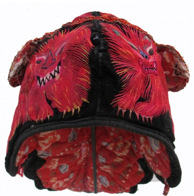 Shidong Miao Silk Tiger and Pheonix Wind Hat