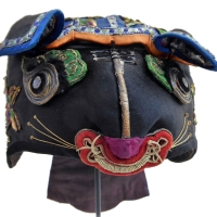 689 Charming Embroidered Chinese Child's Tiger Hat