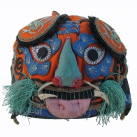 546 Embroidered Han Chinese Orange Tiger Hat