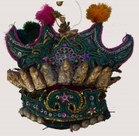 Dong Minority Red Velvet Ceremonial Hat