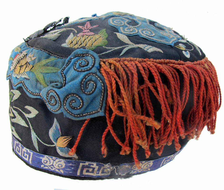 7347a660c6a 548 Chinese Child s Hat with Kingfisher Feather Pin