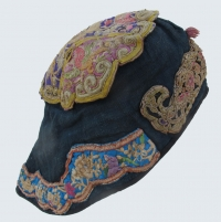 b6e5f03d28c 620 Chinese Minority Embroidered Indigo Wind Hat